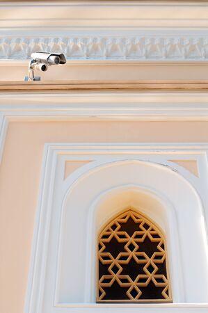 Small security camera near museum window Stock Photo - 6987968