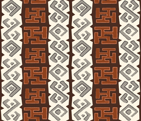 African seamless pattern in native grungy style Vector