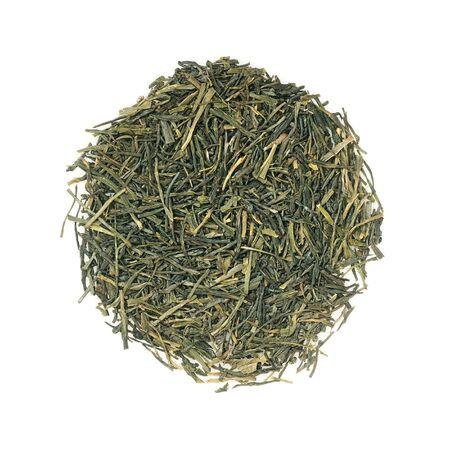 sencha: Japanese green Gyokuro tea (most expensive leaf tea) isolated