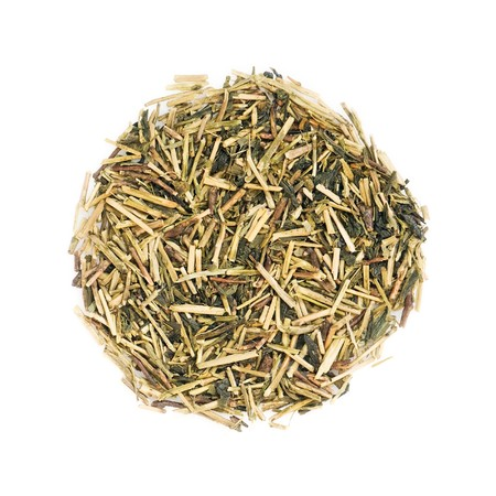 macrobiotic: Green japanese Kukicha (twig or stalk or stick) tea popular at macrobiotic diet