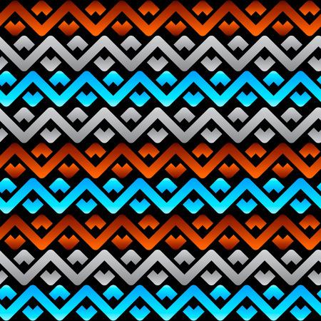 Seamless celtic linen pattern in tri-color over black Stock Vector - 7877013