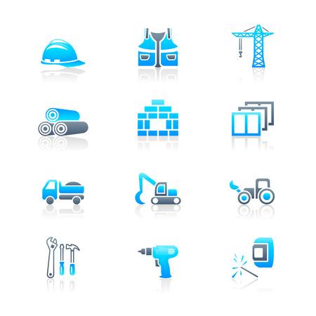 escavadeira: Construction tools, transportation, materials and more icon set