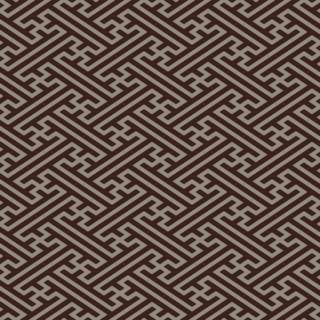 Retro japanese linen seamless pattern in dark colors Vector