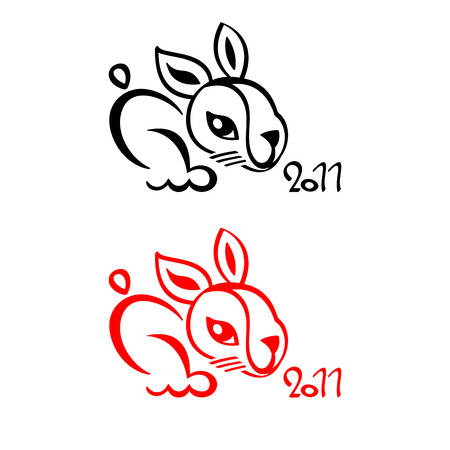 Rabbit chinese New Year 2011 symbol isolated Stock Vector - 8085957