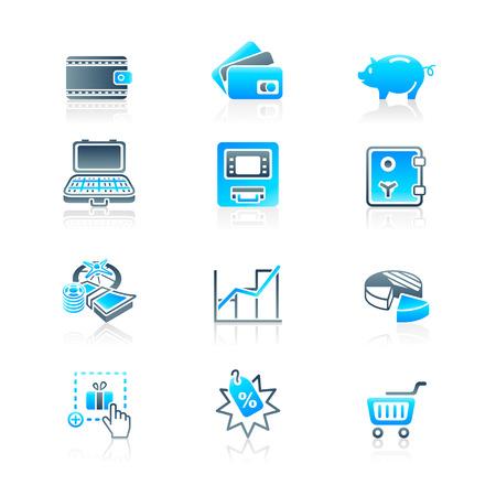 Money matters icons | MARINE series Stock Vector - 8195533