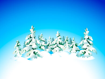 snowbank: Winter snow forest background for Christmas card