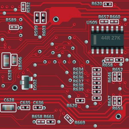 Placa base abstracta transparente o cualquier patrón de placa de circuito Ilustración de vector