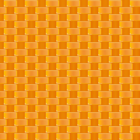 Seamless cane weaving pattern in warm colors Vector