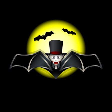 holiday movies: Flying vampire bat over night with full moon
