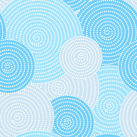 Japanese seamless circle dots pattern in blue Vector