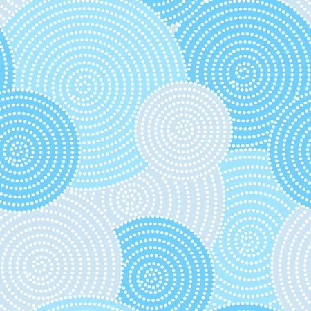 kimono: Patr�n de puntos del c�rculo transparente japon�s en azul