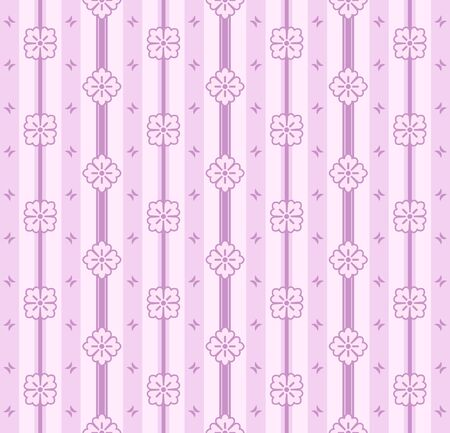 Delicate seamless floral pattern in light pink colors Stock Vector - 9659910