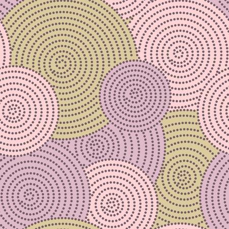 Japanese seamless circle dots kimono pattern Vector