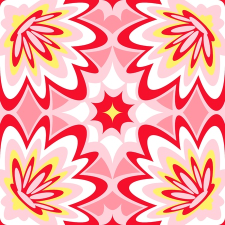 Seamless burst flower power interior pattern  Vector