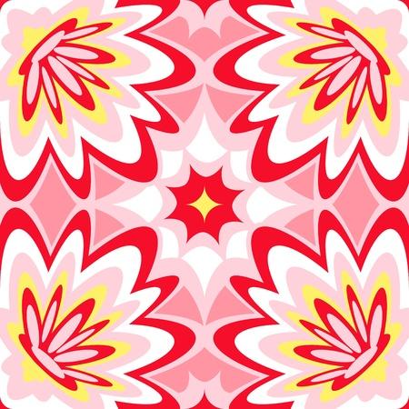 tissue paper: Seamless burst flower power interior pattern