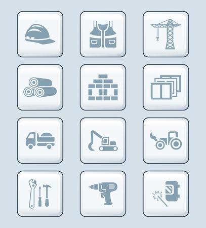 escavadeira: Construction tools, transportation, materials and more icon-set