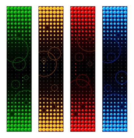 Abstract colorful circles banner backgrounds Stock Vector - 12327004