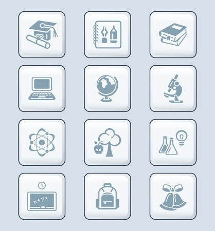 knowledge clipart: School and college education objects; tools and science symbols