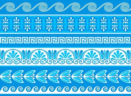 arte greca: Decorativi confini greco fatto come campioni