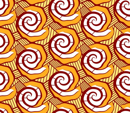 mali: Malian seamless dress pattern in bright floral style Illustration