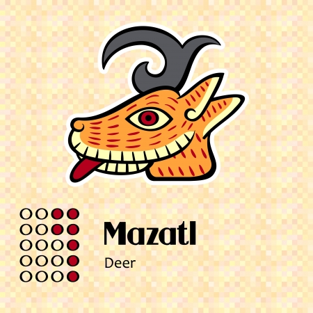 codex: Aztec calendar symbols - Mazatl or deer  7