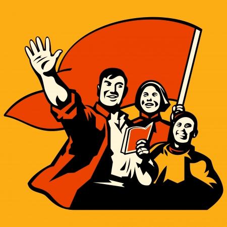 manifestacion: El conocimiento es poder obrero propaganda poster