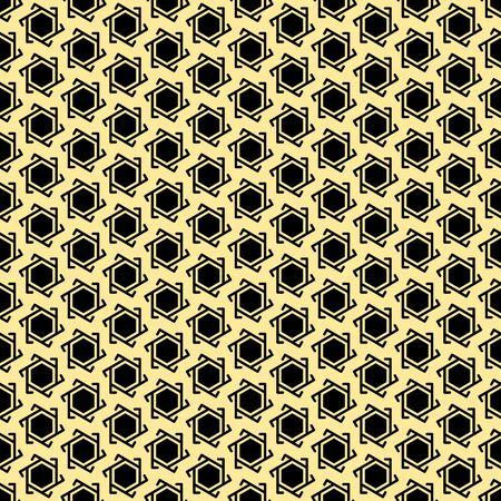 Muslim golden-black seamless geometric pattern Vector