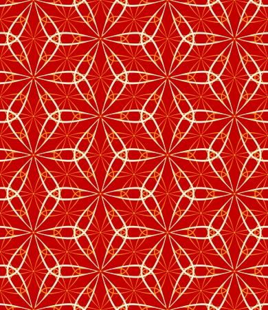 Seamless vintage japanese flower dance pattern Stock Vector - 17983481