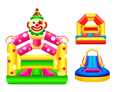 Bouncing or jumping castles design Vector