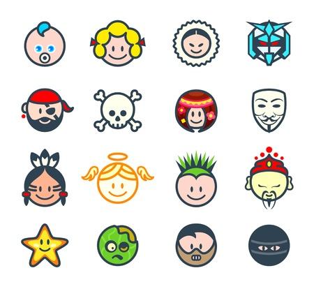 Caractères pour les réseaux sociaux ou avatars de forum II Banque d'images - 20763823