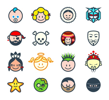 star man: Characters for social networks or forum avatars II Illustration