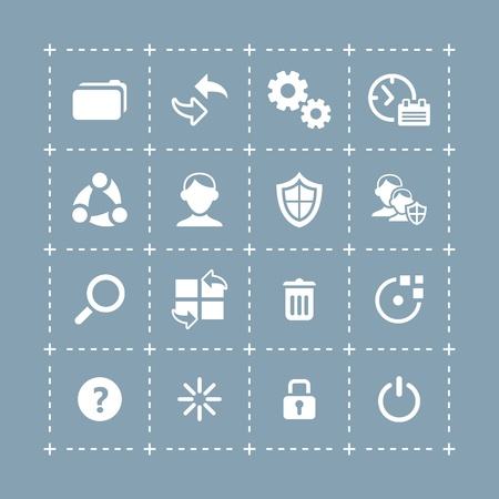 Plain system icons for mobile and tablet devices Vector