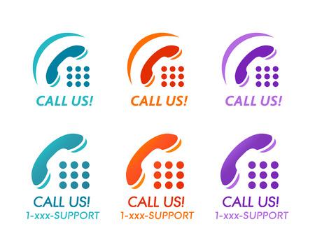 les chiffres: Appelez-nous! boutons ou d'icônes pour support technique téléphonique