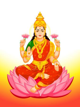 Indù dea Lakshmi di ricchezza, prosperità, fortuna, e l'incarnazione della bellezza Archivio Fotografico - 26078893