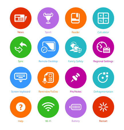 help button: Metro-style flat round system icons 3, custom versions