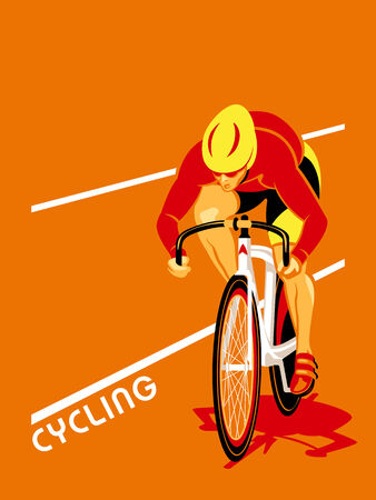 Poster with a track cyclist at the competion