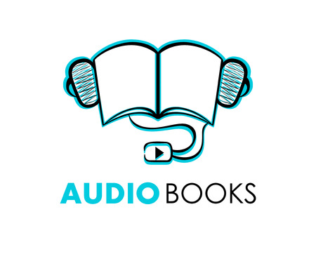 Hand-drawn audiobooks symbol or icon isolated Vector
