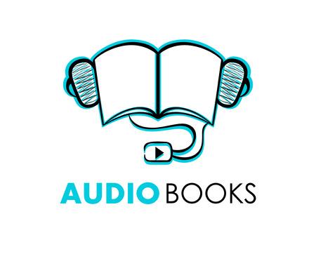 audio book: Hand-drawn audiobooks symbol or icon isolated Illustration