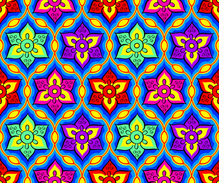 Seamless bright festival indian Rangoli pattern Vector