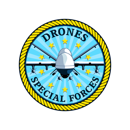 drones: Badge for future special drones forces isolated