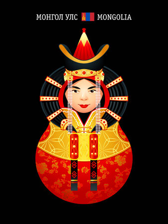 Matryoshkas of the World: Mongolian wedding dress