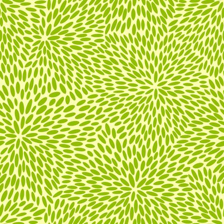 disordered: Japanese seamless green leaves kimono pattern