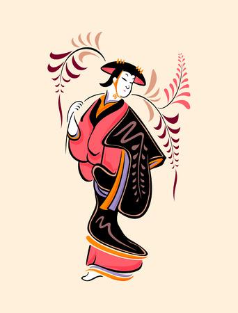 maiden: Japanese folk-art from Otsu - Wisteria maiden