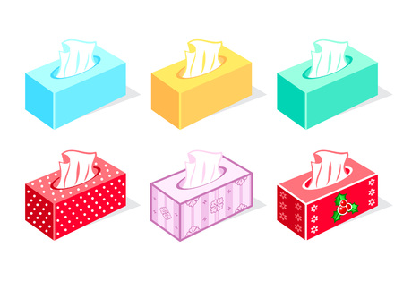 tissue paper: Colorful tissue boxes for health care and gift