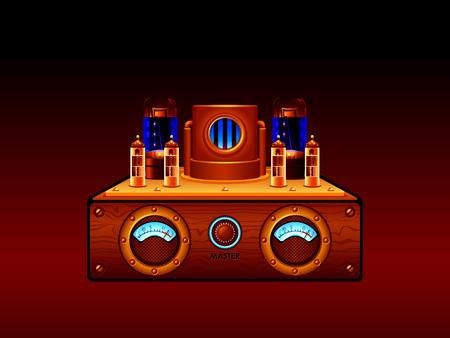 equipo de sonido: Amplificador de tubo de vacío estéreo steampunk Resumen