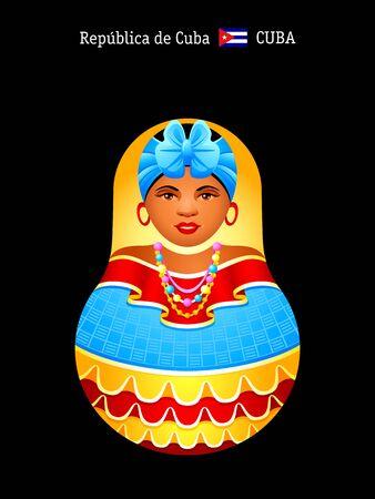 matrioshka: Matryoshkas of the World: cheerful Cuban girl