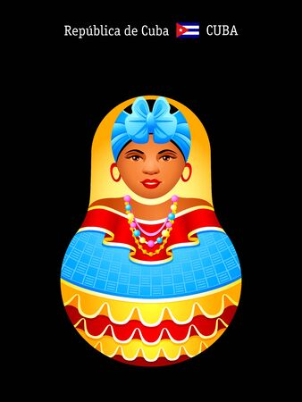 Matryoshkas of the World: cheerful Cuban girl