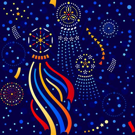 Japanese seamless Star festival Tanabata pattern 向量圖像