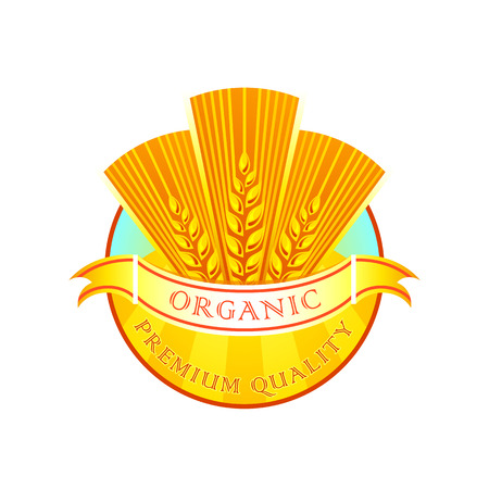 wheaten: Premium quality organic wheat flour label