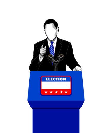 politician: Politician giving an election campaign speech